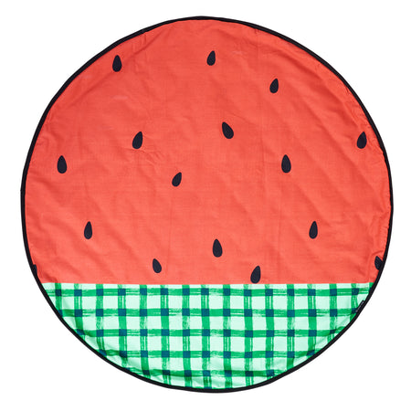 Watermelon/Black Waterproof Reversible Playmat