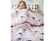 flamingo quilted coverlet 2