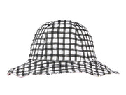 Grey gingham hat