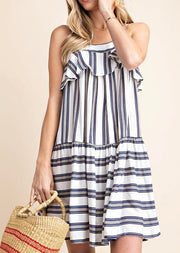 Ruffles + Stripes Babydoll Dress