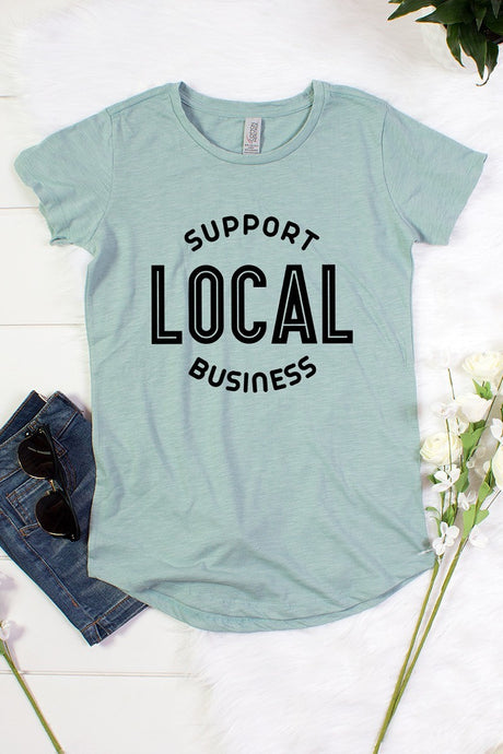 Support LOCAL Business Slub Knit Tee