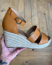 Overlap Stitch Jute Wedge