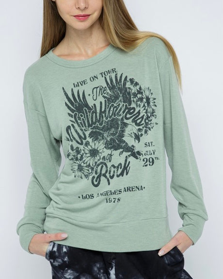 Wildflowers Rock Terry Knit Top