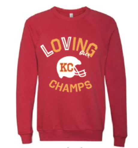 Loving our KC Champs Sweatshirt