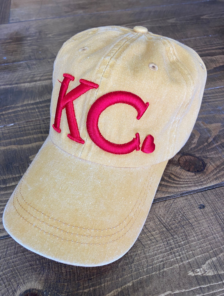 KC Heart Puff Embroidered Cap