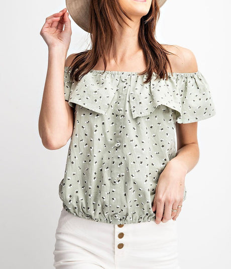 Floral Print Off the Shoulder Top