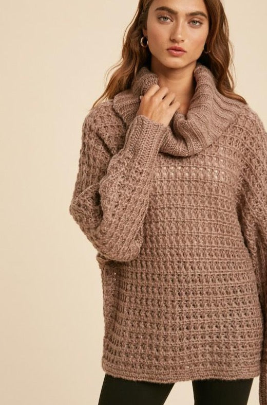 Cowl Neck Wide Body Sweater