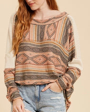 Aztec Contrast Shoulder Tunic