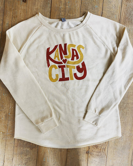 Kansas City Hug Raglan Sweatshirt