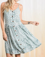 Bandana Button Front Dress