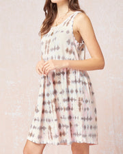 Tie Dye Knit Babydoll Dress