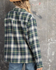 Plaid Button Down Flannel Top