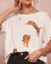 Three Tiger Short Sleeve Tee