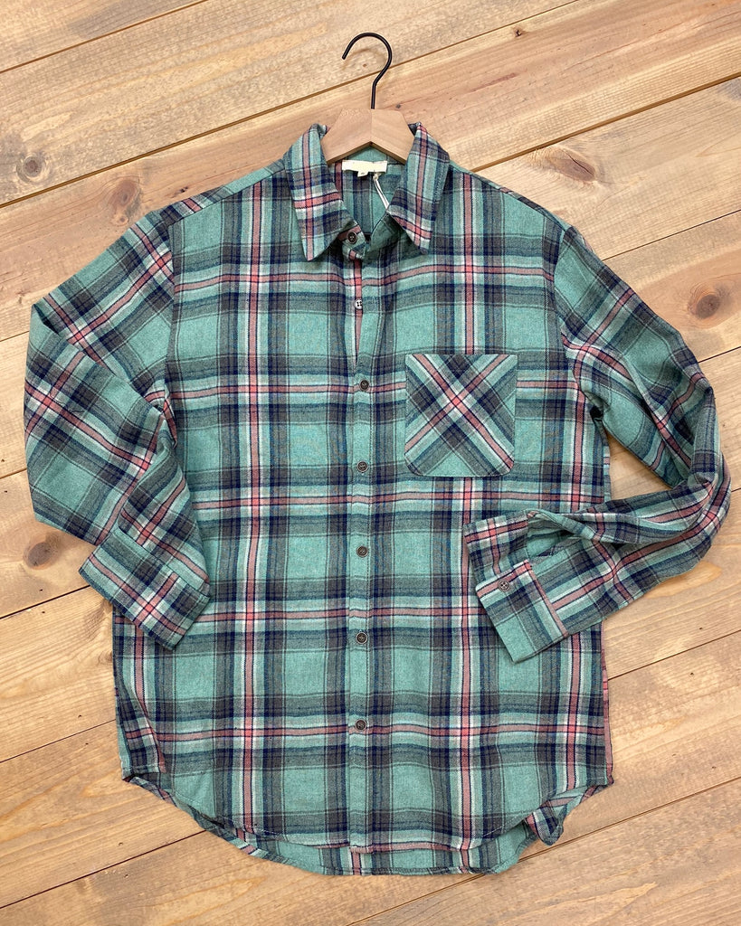 Oversized Plaid Flannel Top