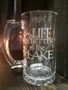 Life is Better at the Lake Beer Mug