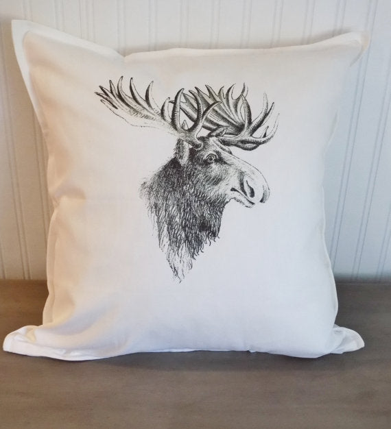 Moose Print Pillow Cover