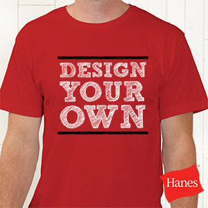 Design Your Own Hanes® Adult T-Shirt- Red - Custom Allstars