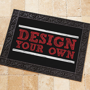 Design Your Own Personalized Black Doormat - Custom Allstars