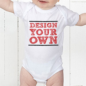 Design Your Own Personalized Baby Bodysuit- White - Custom Allstars