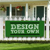Design Your Own Personalized Banner- Green - Custom Allstars