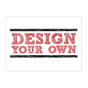 "Design Your Own Personalized Stationery Flat Card- 5"" x 7"" Horiz. - Custom Allstars"