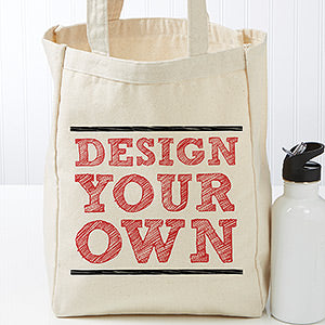 Design Your Own Small Natural Tote Bag - Custom Allstars