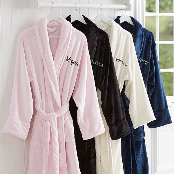 Classic Comfort Embroidered Luxury Fleece Robe- Name - Custom Allstars