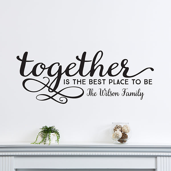 Together...Personalized Vinyl Wall Art gift - Custom Allstars