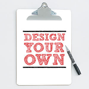 Design Your Own Personalized Clipboard - Custom Allstars