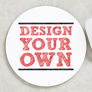 Design Your Own Personalized Round Mouse Pad- White - Custom Allstars
