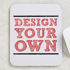 Design Your Own Personalized Vertical Mouse Pad- White - Custom Allstars