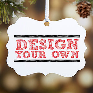 Design Your Own Personalized 2-Sided Ornament - Custom Allstars