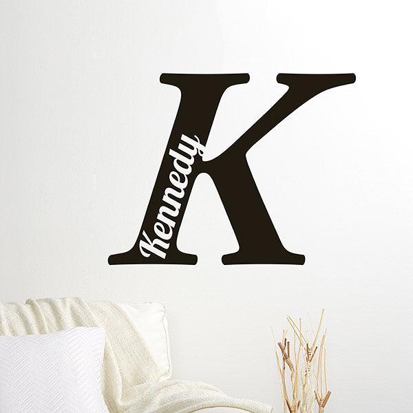 Personalized Initial Vinyl Wall Art - Custom Allstars