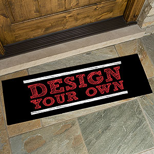 Design Your Own Personalized Black Oversized Doormat - Custom Allstars