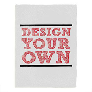 Design Your Own Personalized Fleece Baby Blanket - White - Custom Allstars