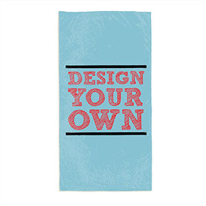 Design Your Own Personalized Beach Towel - Slate Blue - Custom Allstars