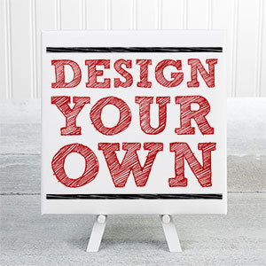 "Design Your Own Personalized Canvas Print 8"" x 8"" - Custom Allstars"
