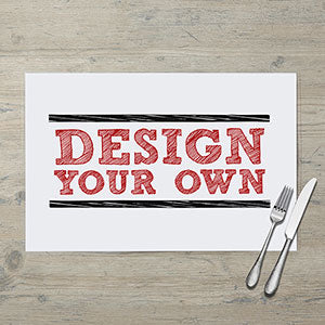 Design Your Own Personalized Laminated Placemat - Custom Allstars