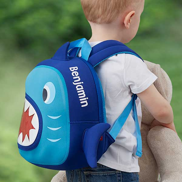 Shark Personalized Neoprene Mini Toddler Backpack - Custom Allstars