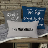 "Write Your Own Home Expressions Personalized 18"" Throw Pillow - Custom Allstars"