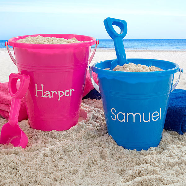 Personalized Sand Pail & Shovel - Custom Allstars