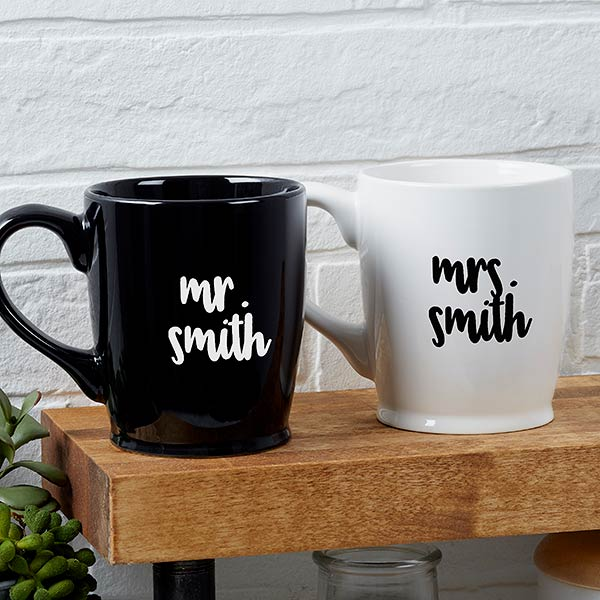 Mr. & Mrs. Personalized Wedding Coffee Mug gift - Custom Allstars