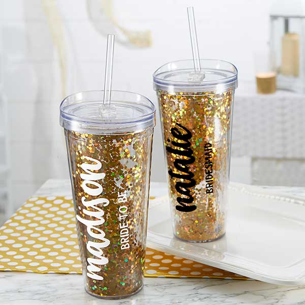 Glitter & Gold Bridal Party 22oz. Tumbler gift - Custom Allstars
