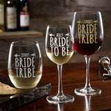 Bride Tribe Personalized 21oz. Stemless Wine Glass gift - Custom Allstars