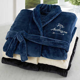 Mr. Embroidered Luxury Fleece Robe