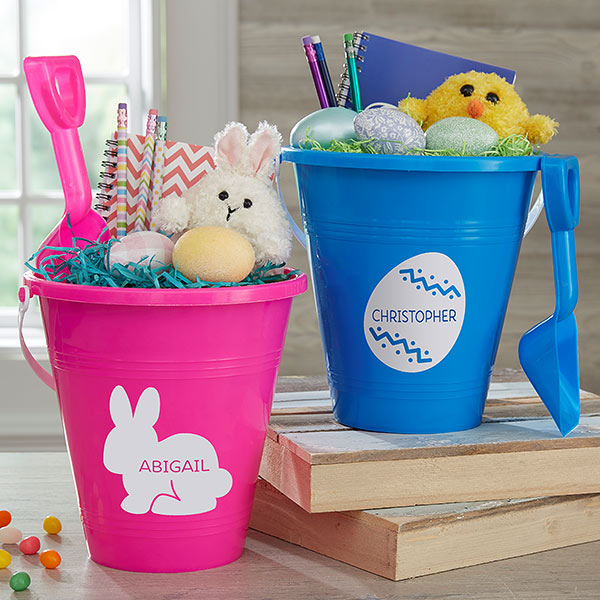 Easter Characters Personalized Plastic Beach Pail & Shovel gift - Custom Allstars