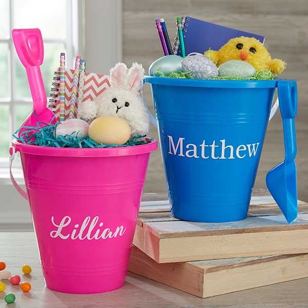 Personalized Easter Sand Pail & Shovel gift - Custom Allstars