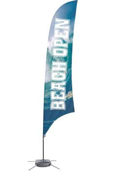Custom Outdoor Feather Flag with Cross Base & Water Bag - Full Color Digital Printing (x2020) - Custom Allstars