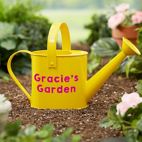 Sunshine & Gardening Time Personalized Watering Can - Custom Allstars