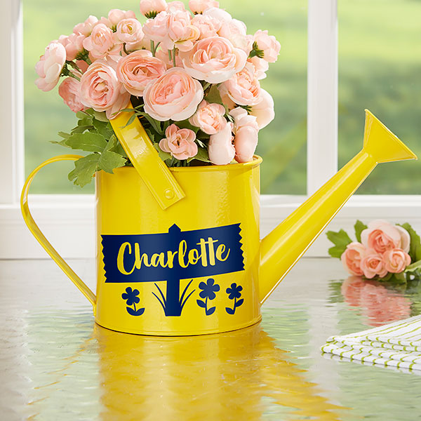 Happy Day Personalized Watering Can Flower Pot gift - Custom Allstars